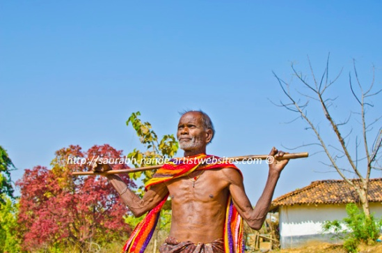 Indian tribal senior man